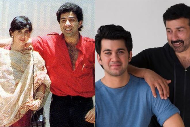 Санни Деол с женой и сыном