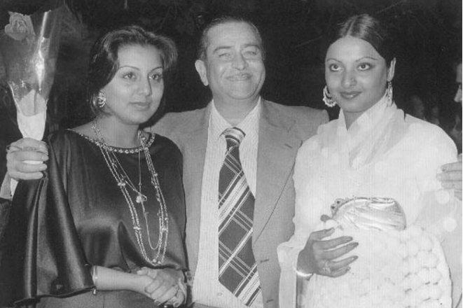 Радж Капур с женой Кришной и Наргис