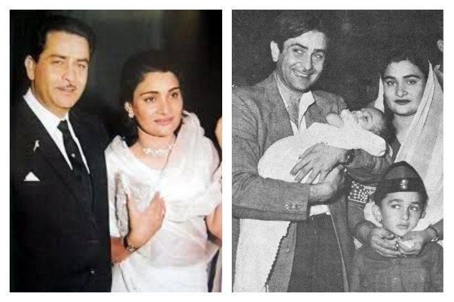Радж Капур с женой Кришной